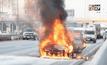 ไฟไหม้รถยนต์ติดแก๊สเสียหายทั้งคัน
