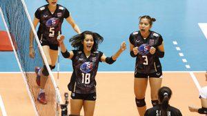 3 เซตรวด! ทีมตบลูกยางสาวไทย คว่ำ คาซัคสถาน 3-0 เซต คัดอลป. 2016