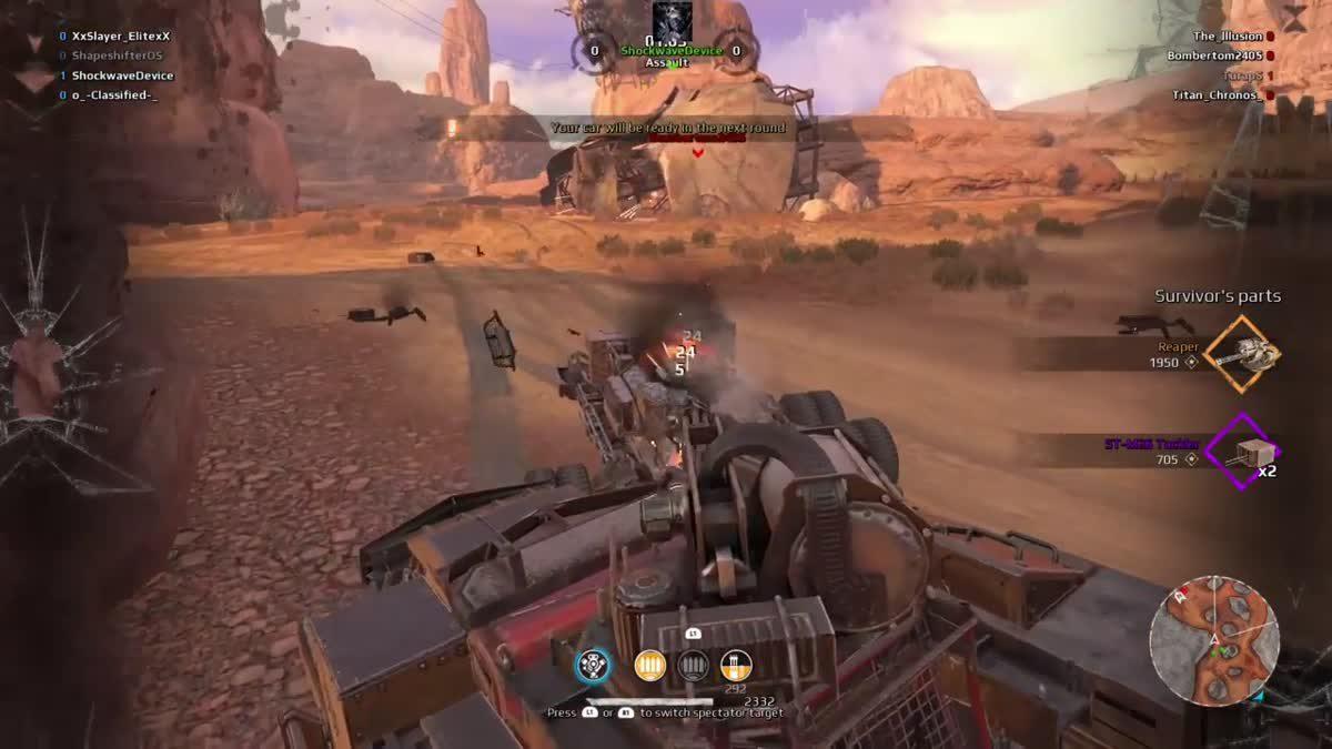 [ตัวอย่างเกม] CROSSOUT เปิดระบบ [Clan War] โหมดจัดทีมแข่งขันสุดมันส์ดวลกันเป็นแคลน