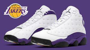Air Jordan 13 Retro ในสีสันอันเป็นเอกลักษณ์ของยอดทีม Lakers