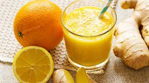 11 สูตรเครื่องดื่มผัก-ผลไม้ สมูทตี้ แก้อาการเมาค้าง สมูทตี้ขิงกับส้ม