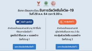 ศูนย์ฉีดวัคซีนกลางบางซื่อ เปิดให้คนไทยและต่างชาติ ลงทะเบียน ฉีดวัคซีนรอบใหม่ 2 กลุ่ม ตั้งแต่ 9 โมงเช้า พฤหัสที่ 28 ต.ค.นี้