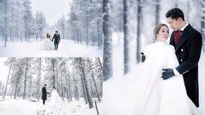 มาทุกแนว! รวมภาพพรีเว็ดดิ้ง นิว-เป๊ก จากล้านนา สู่โรแมนซ์กลางหิมะที่ฟินแลนด์