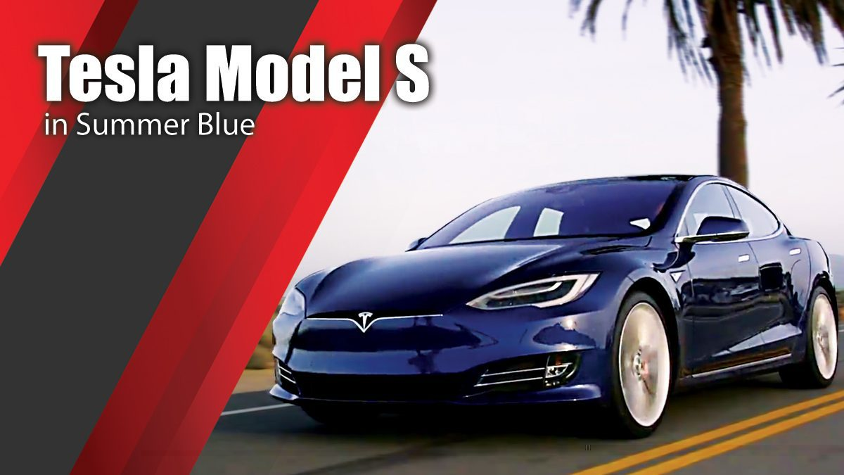 Tesla Model S in Summer Blue