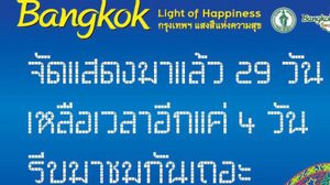 กทม. เปิดขยายการมาชมไฟลานคนเมืองถึง 31 มกราคม