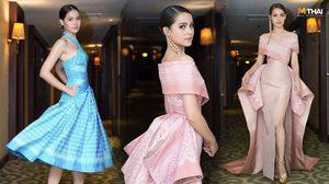 ชุดผ้าไหมไทย by POEM ส่ง ญาญ่า สวยสง่าในงานเดินแบบที่ฟิลิปปินส์
