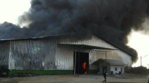 วอดหนัก! ไฟไหม้โรงงานรีไซเคิลขยะจอมบึง ยังคุมเพลิงไม่ได้
