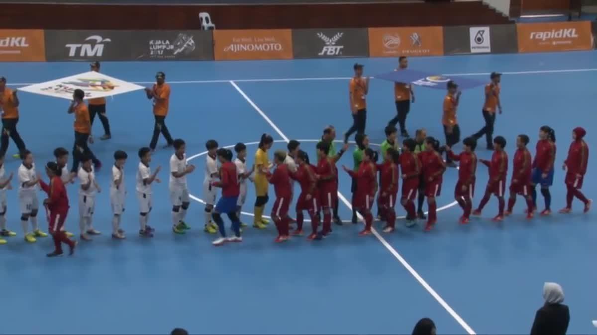 ไฮไลท์ฟุตซอลหญิง ซีเกมส์ 2017 ระหว่าง ทีมชาติไทย 2-2 ทีมชาติอินโดนีเซีย