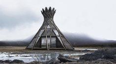 บ้านสไตล์ชนเผ่า สุดคูล สร้างจาก คานไม้ เพียง 24 เส้น!