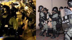 ตำรวจฮ่องกง ถูกวิจารณ์ หลังมีภาพคุมตัวสาวประท้วงสภาพกระโปรงถูกเลิกขึ้นไม่มีกางเกงใน