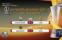 ผลฟุตบอลยูฟ่า ยูโรป้าลีก รอบ 8 ทีมสุดท้าย 12-08-63