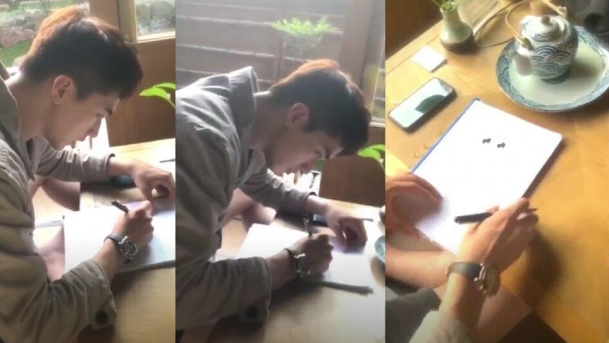 ส่อง! นักร้องจีน สวี่ เว่ยโจว วาดรูปแมว เตรียมแจกแฟนคลับ!!