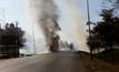 อากาศร้อนจัดไฟไหม้รถบรรทุก