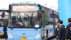 เปิดตัวรถเมล์ NGV ใหม่ เป็นของขวัญปีใหม่ให้แก่ประชาชน