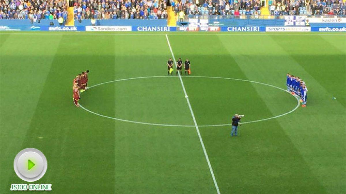 เชฟฟิลด์ เวนส์เดย์ สโมสรในอังกฤษ ยืนสงบนิ่งพร้อมเปิดเพลงสรรเสริญพระบารมีเพื่อถวายความอาลัยแก่ในหลวงรัชกาลที่ 9