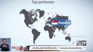 นักเรียนสิงคโปร์รั้งอันดับ 1 สอบประเมินผลทั่วโลก