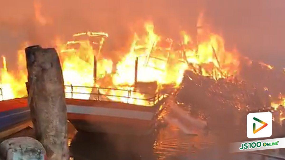 เพลิงไหม้เรือประมงทัวร์ตกปลา จ.สตูล เสียหายกว่า 10 ล้านบาท คาดไฟฟ้าลัดวงจร