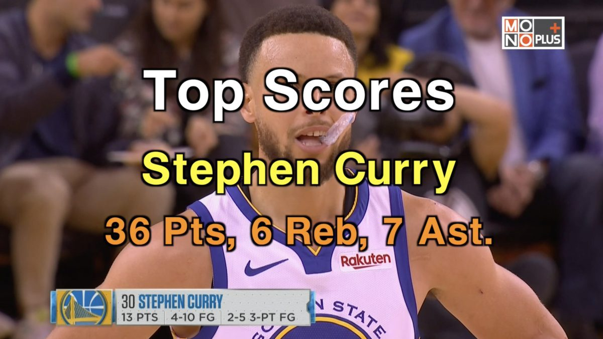 Top Score! Stephen Curry, 36 Pts. 7 Ast.