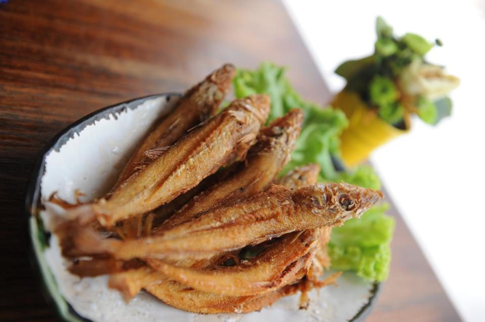 fish dry thai food