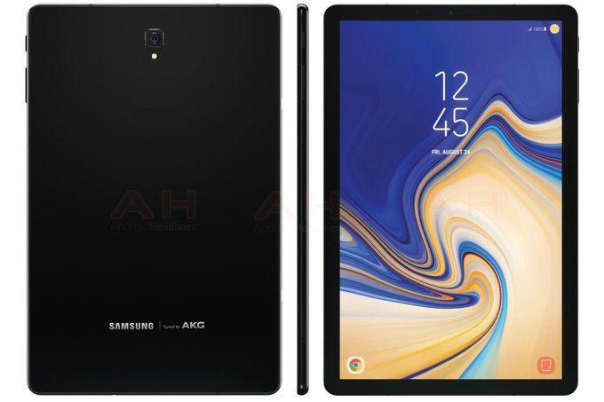 ภาพเรนเดอร์ล่าสุด Galaxy Tab S4