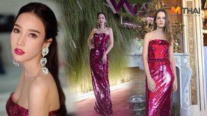 อั้ม พัชราภา ทวงบัลลังก์ สวยวิบวับกับชุดเดรสหลักแสน แบรนด์ Monique Lhuillier