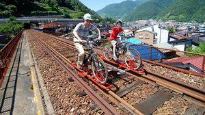 เที่ยวญี่ปุ่น ปั่นจักรยานเสือภูเขา บนรางรถไฟสายเก่า ที่เมืองฮิดะ
