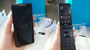 ดูชัดๆ Samsung W2018 สมาร์ทโฟนฝาพับ หลุดเต็มๆ ในมือ