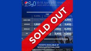 กระแสแรง! ปาร์ตี้สงกรานต์แห่งปี S2O ประกาศ Sold Out ทุกวันแล้ว!!
