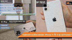 บททดสอบความอึดของ iPhone 11, iPhone 11 Pro และ iPhone 11 Pro Max
