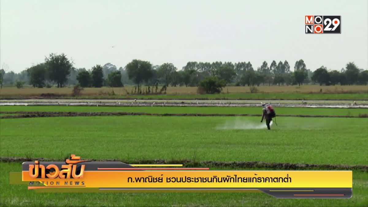 ก.พาณิชย์ชวนประชาชนกินผักไทยแก้ราคาตกต่ำ