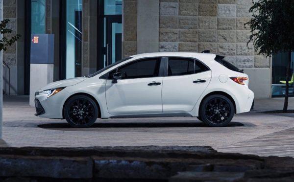 2020 Toyota Corolla Nightshade Edition blacks