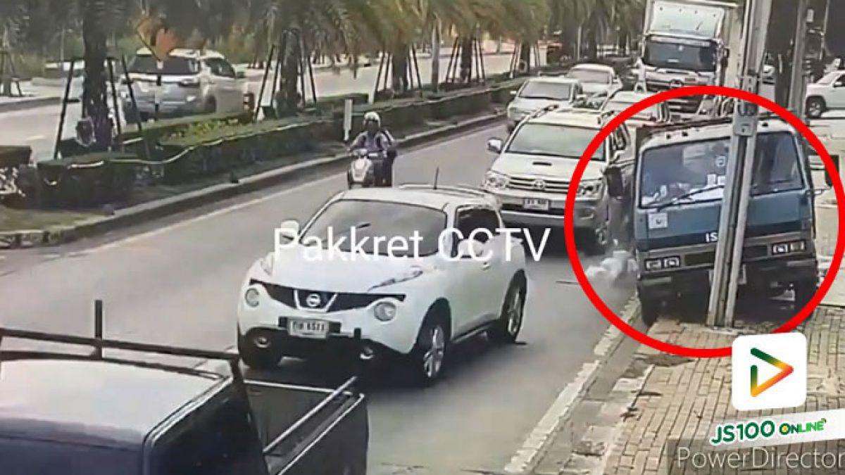 รถบรรทุกเบรคไม่ทันตัดสินใจหักหลบขึ้นฟุตบาท รถยนต์รอดหวุดหวิด (19/08/2020)