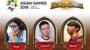 Hearthstone ไทยส่ง Disdai ลงศึกอีสปอร์ตเอเชียนเกมส์ 2018 ส่งใจเชียร์ 31 สิงหาคมนี้