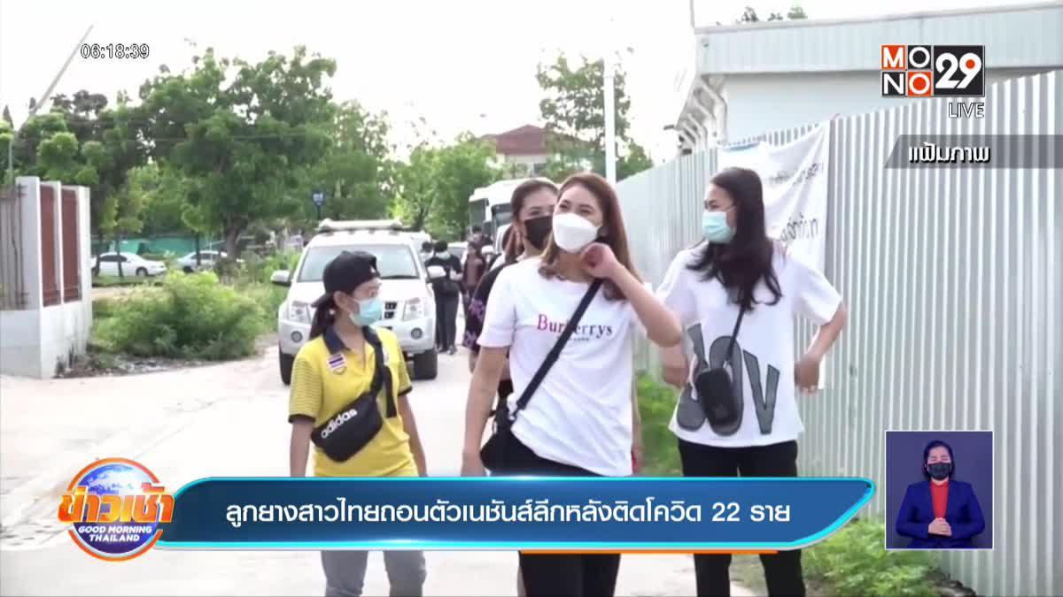 ลูกยางสาวไทยถอนตัวเนชันส์ลีกหลังติดโควิด 22 ราย