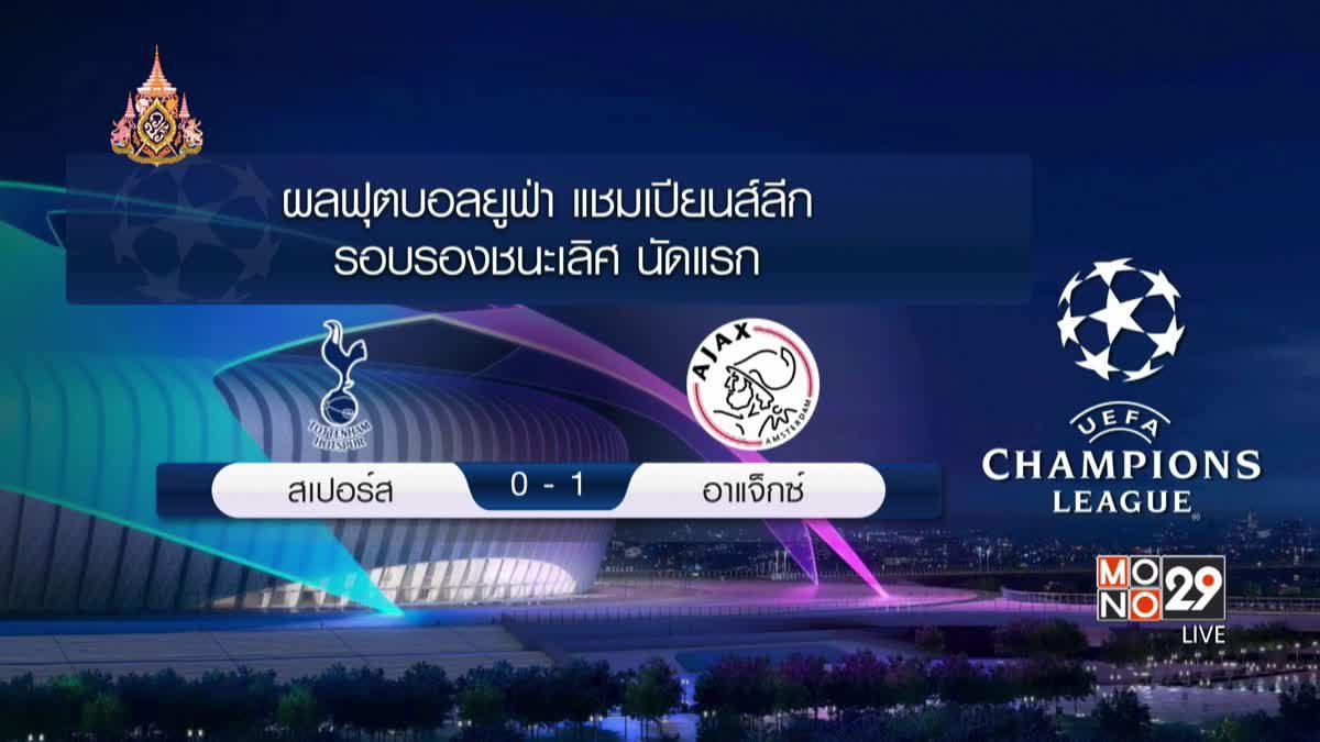 ผลฟุตบอลยูฟ่า แชมเปี้ยนส์ลีก รอบรองชนะเลิศ นัดแรก