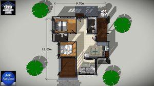 แบบ บ้านแนวโมเดิร์น ลอฟท์ชั้นเดียวขนาดเล็กพื้นที่ใช้สอย 115 ตร.ม.