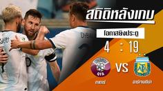 สถิติหลังเกม : กาตาร์ vs อาร์เจนติน่า !! (23 มิ.ย. 2562)