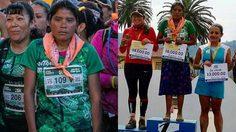 สายวิ่งมีหนาว! สาวเม็กซิโก นุ่งกระโปรง สวมรองเท้าแตะ ชนะวิ่งมาราธอน 50 กม.