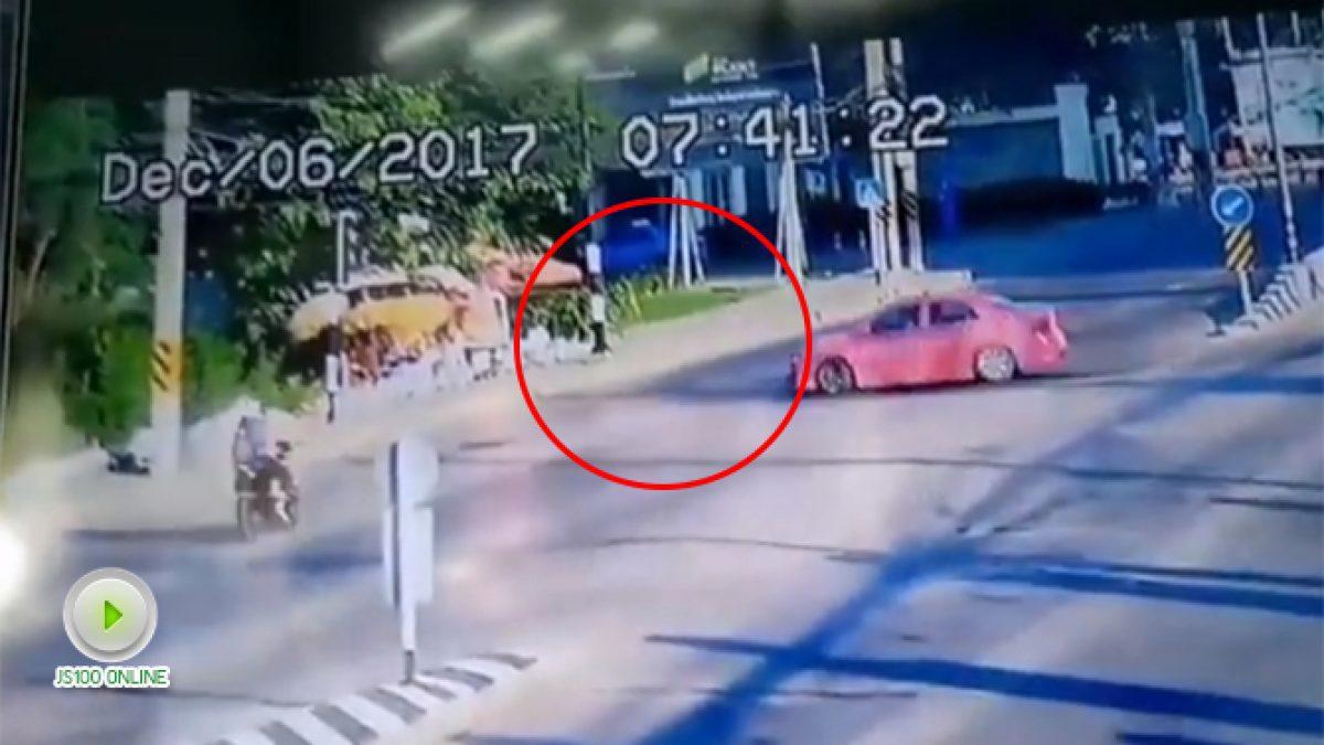 แท็กซี่กลับรถชนกับ จยย. (08-12-60)