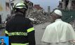 โป๊ปเสด็จเยือนพื้นที่ประภัยแผ่นดินไหวในอิตาลี