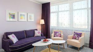 ไอเดียแต่ง ห้องนั่งเล่นสีม่วง ปรับบรรยากาศให้ห้องดูสวยโดดเด่นยิ่งขึ้น