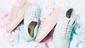 รองเท้า Vans ความหนังสีพาสเทล Old Skool Sneaker
