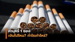 ค่าบุหรี่ 1 ซอง เงินไปไหน? กำไรเท่าไหร่?