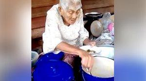 สุดยอด! ยายทวด ลุยขายขนมจีนน้ำยาเลี้ยงชีพ แม้มีอายุถึง 99 ปี