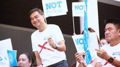 เลือกตั้ง 62 : 'อภิสิทธิ์' ช่วยลูกพรรค รณรงค์หาเสียง ต้านการซื้อสิทธิ์ขายเสียง ที่หลักสี่