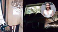 ส่อง บ้านใหม่ มิน พีชญา วัฒนามนตรี บ้านเดี่ยว 2 ชั้น ท่ามกลางสวนสวย