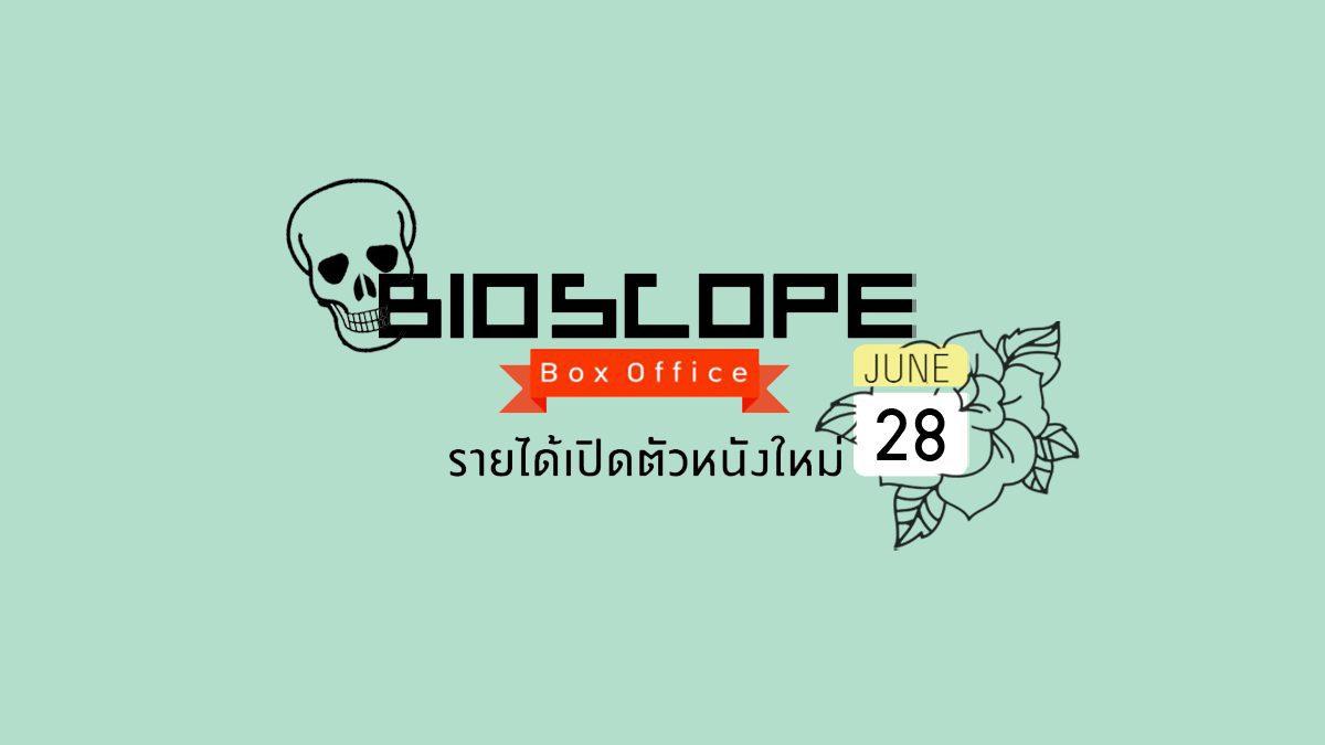 BIOSCOPE Box Office : รายได้เปิดตัวหนังใหม่ ประจำวันที่ 28 มิ.ย. 61
