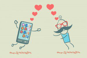 Man In Love with Mobile