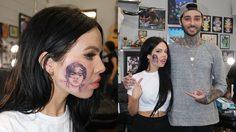 สาวนิวซีแลนด์สักรูป Harry Styles ไว้บนใบหน้า เพื่อฉลองวันเกิดให้กับไอดอลหนุ่ม!!