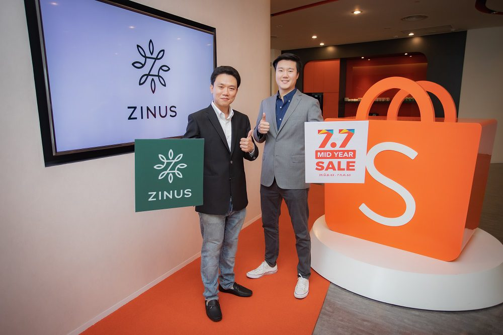 ZINUS ที่นอนนำเข้าจากอเมริกาจับมือพันธมิตร Shopee เปิดเกมรุกบุกตลาดออนไลน์